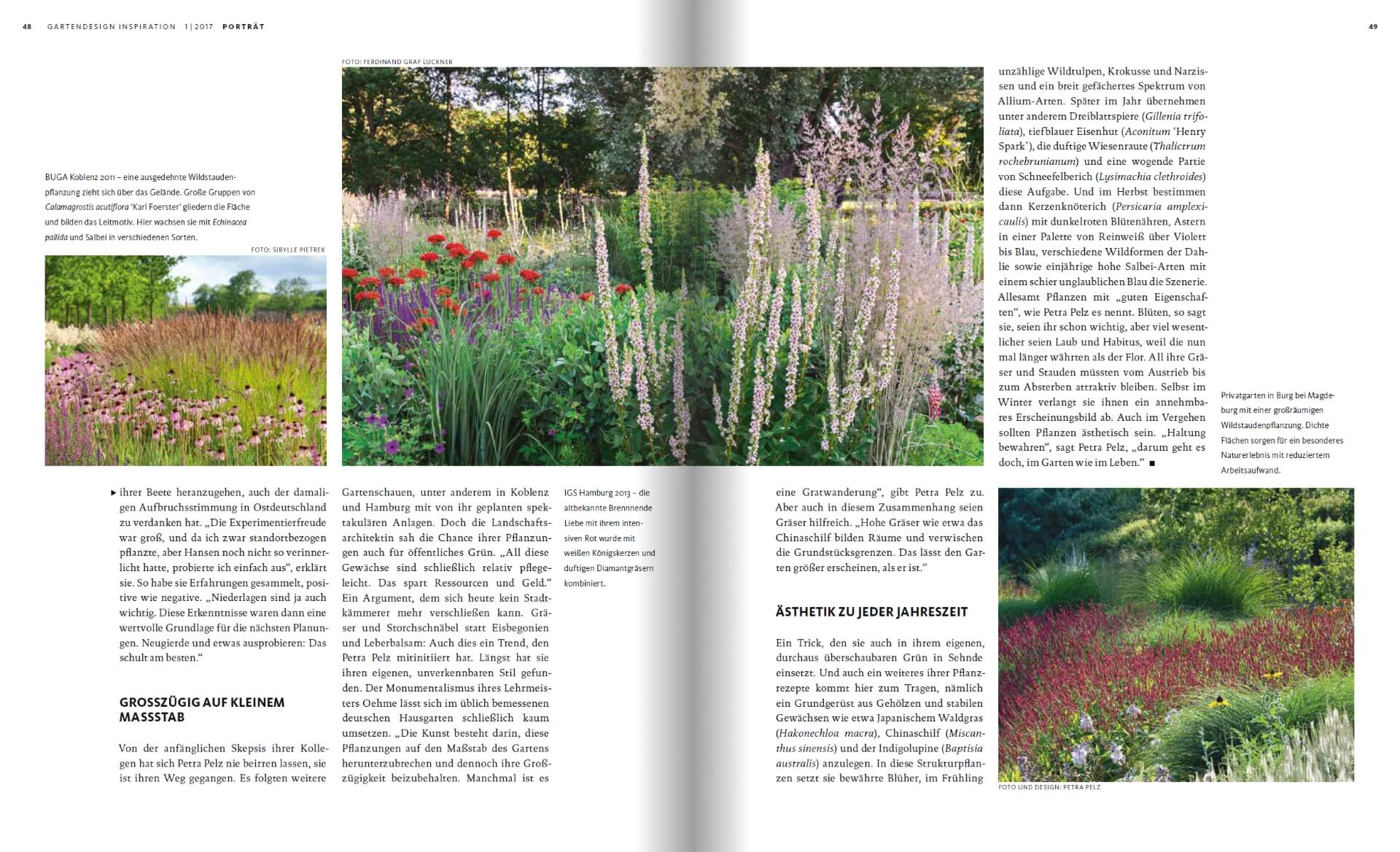GARTENDESIGN INSPIRATION 1/2017: Naturalistische Gartengestaltung