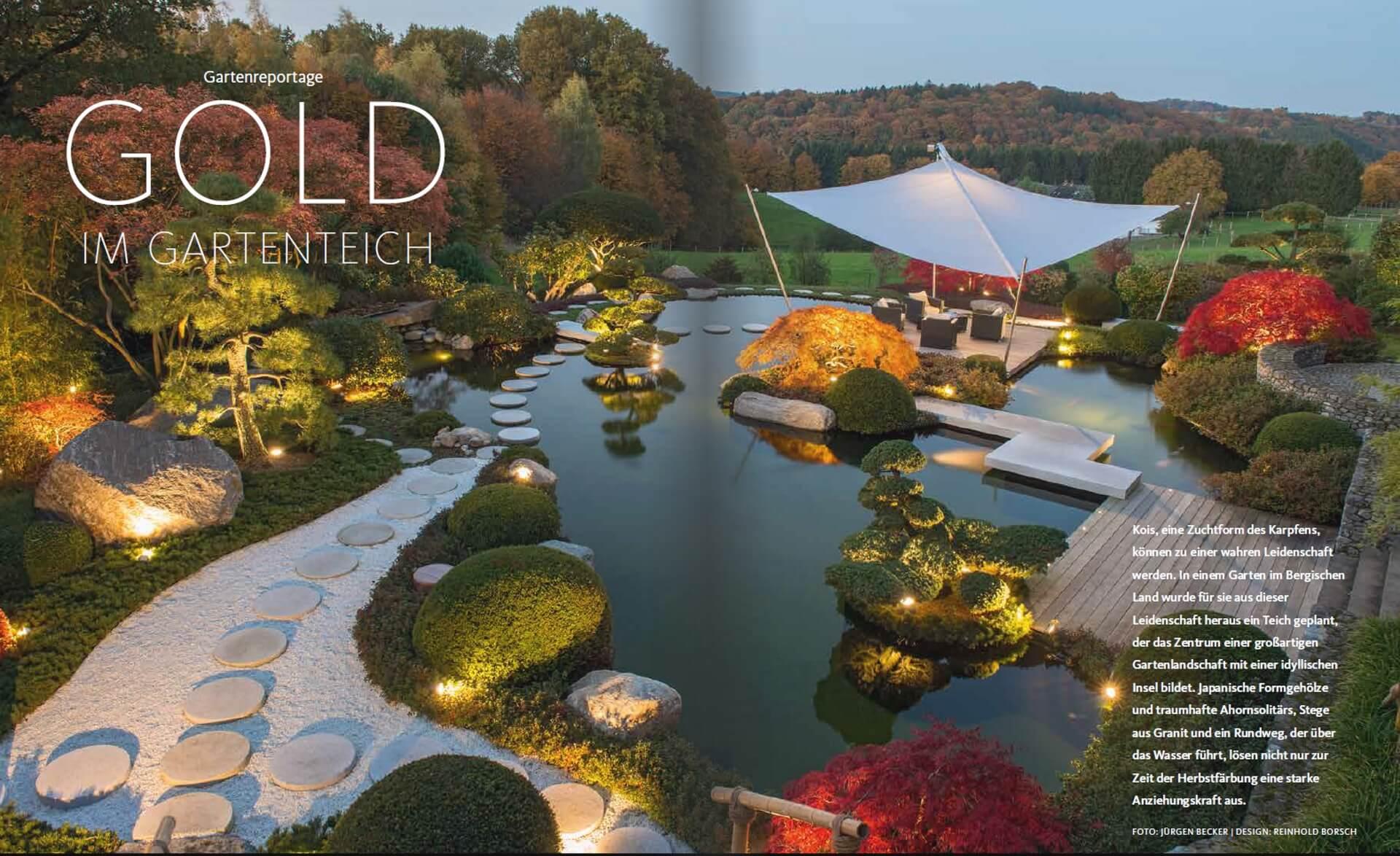 GARTENDESIGN INSPIRATION 1/2018: Gold im Gartenteich