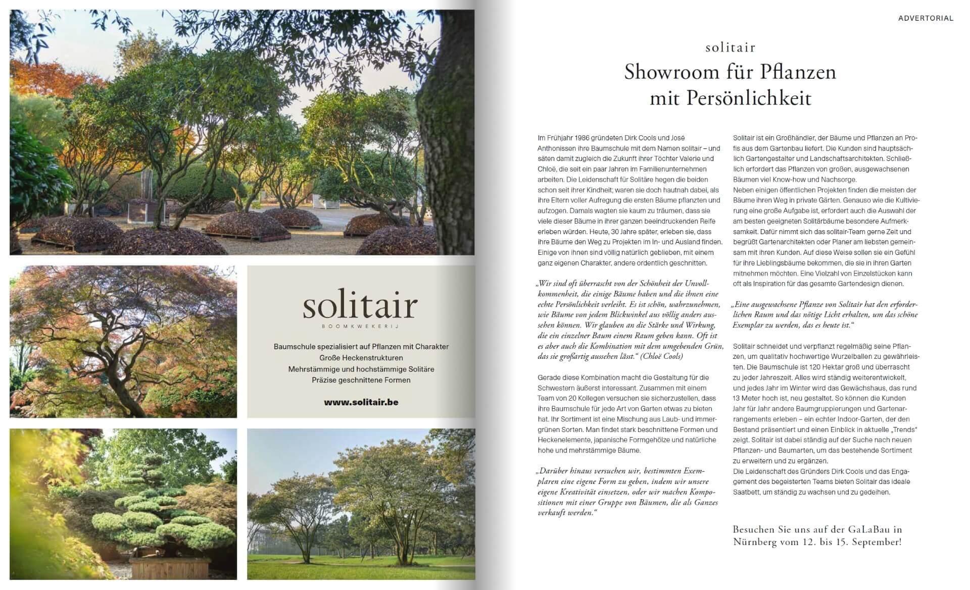 GARTENDESIGN INSPIRATION 3/2018: Solitair - Showroom für Pflanzen mit Persönlichkeit