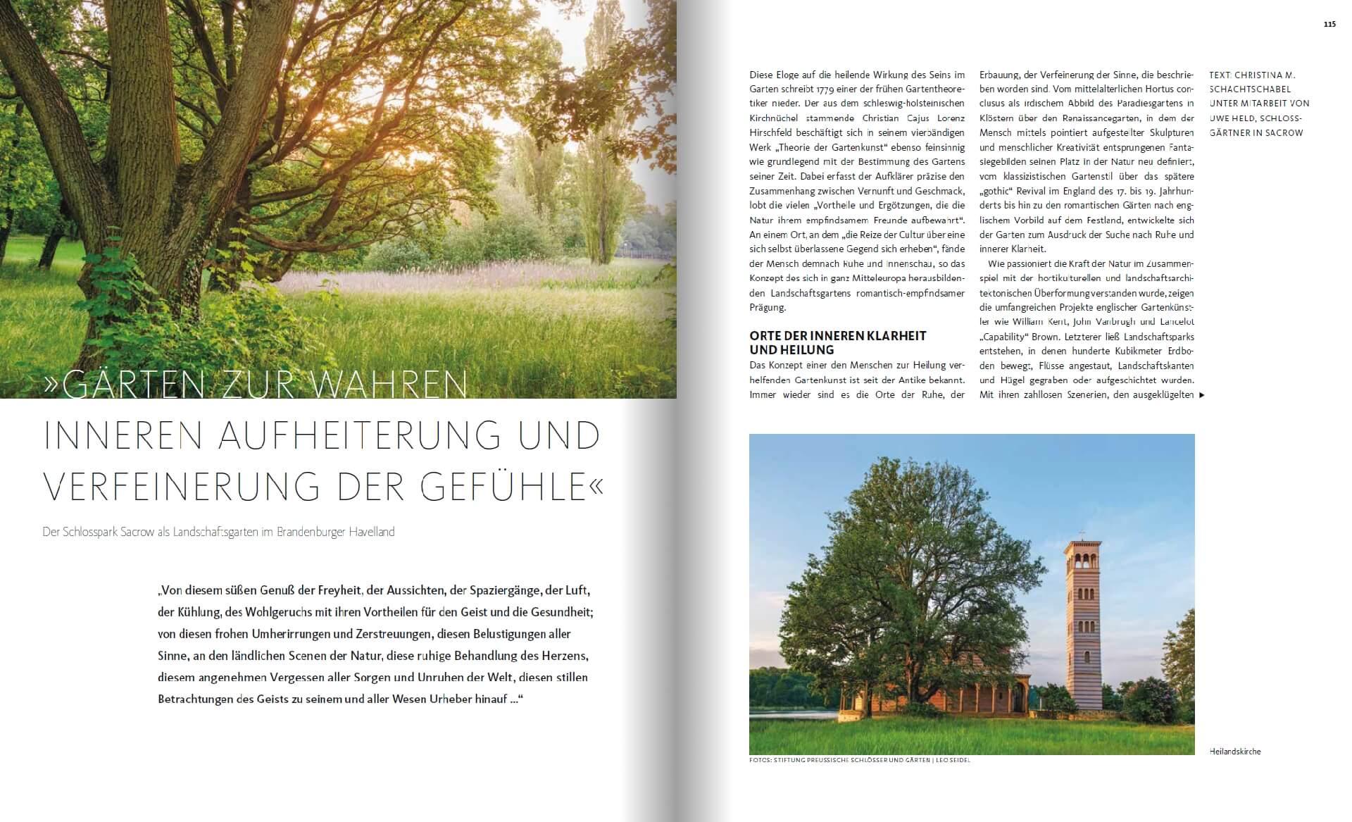 GARTENDESIGN INSPIRATION 4/2018: Schlosspark Sacrow