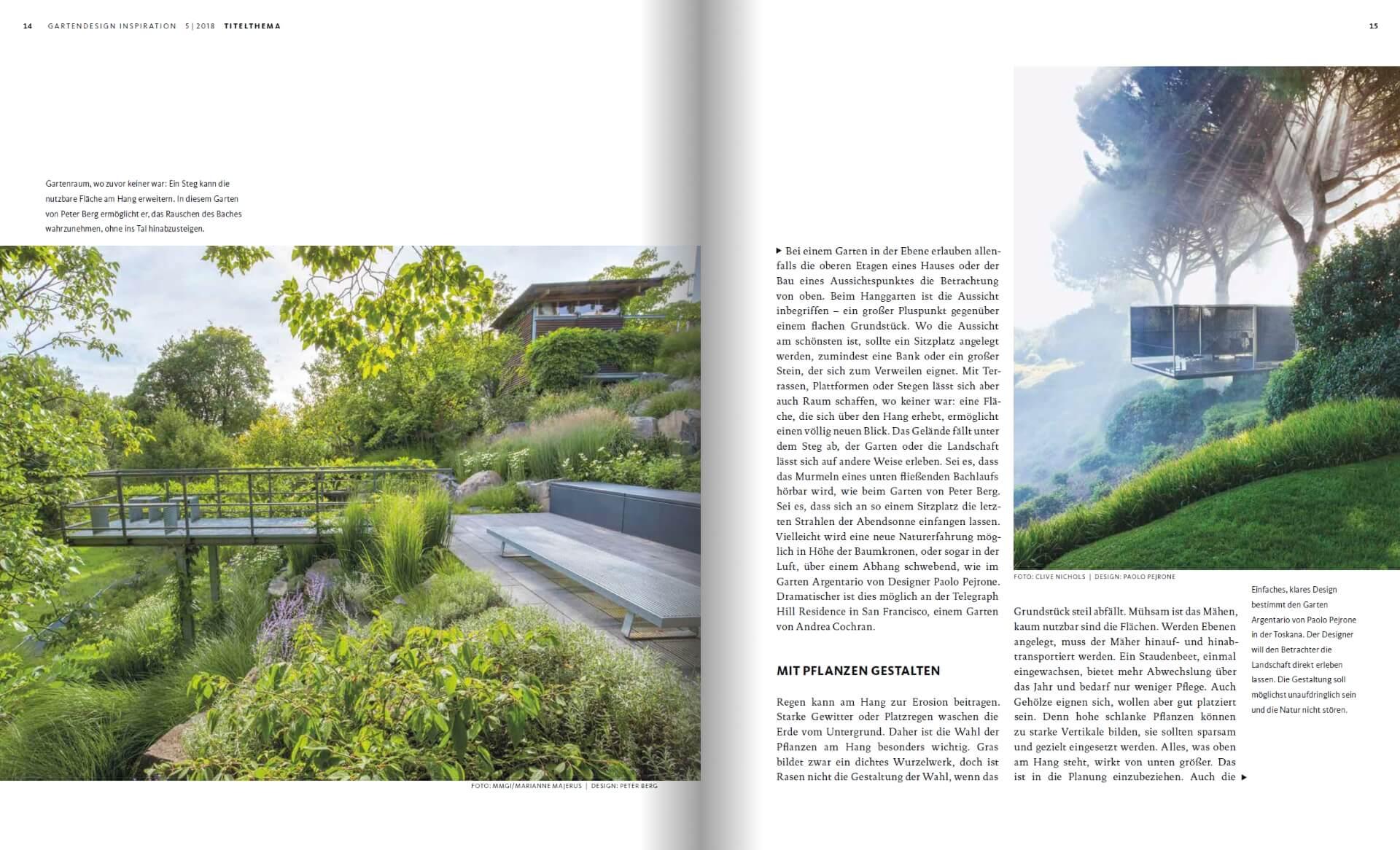 GARTENDESIGN INSPIRATION Ausgabe 5/2018: Hanggärten