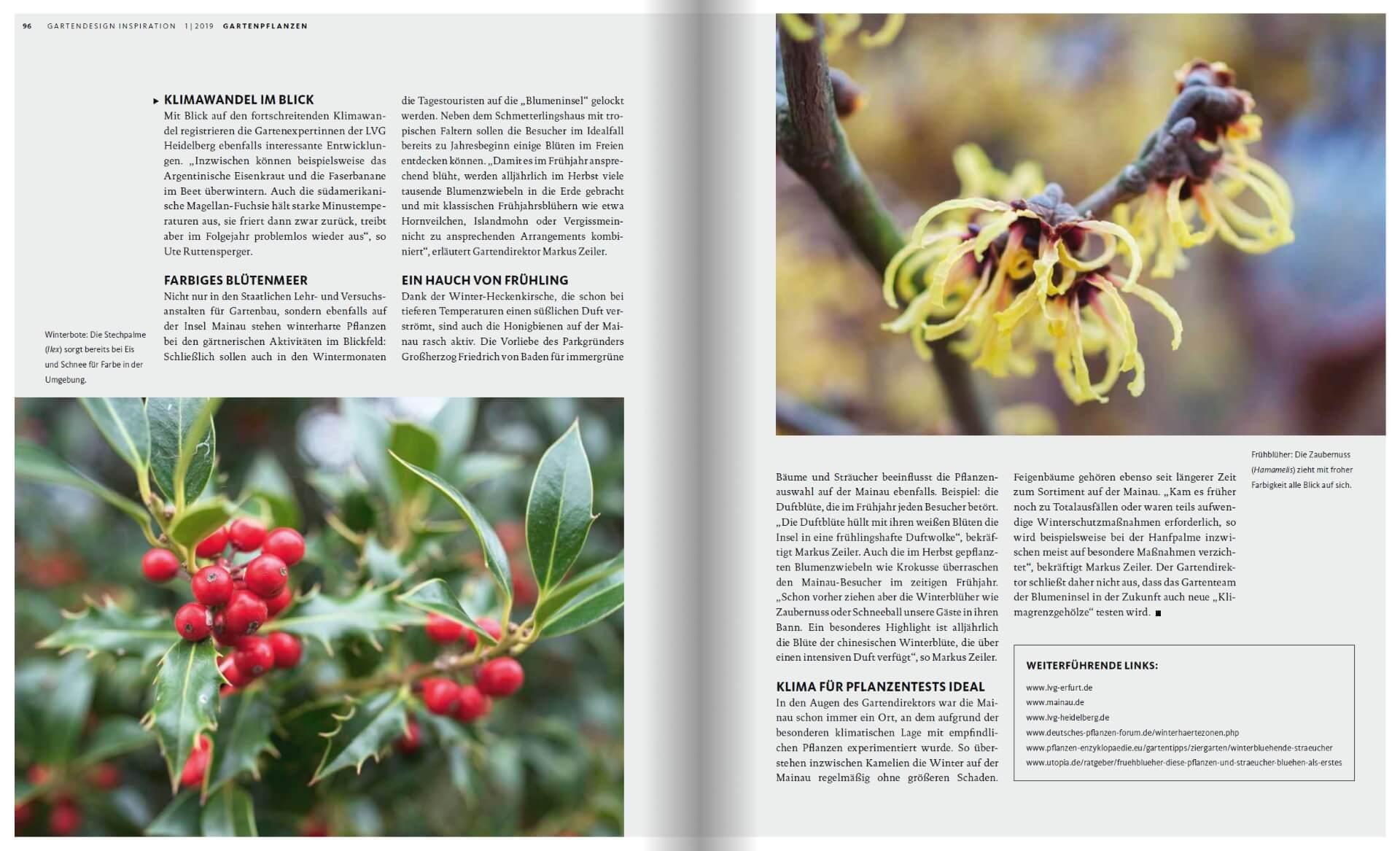 GARTENDESIGN INSPIRATION Ausgabe 1/2019: Winterharte Pflanzen im Garten