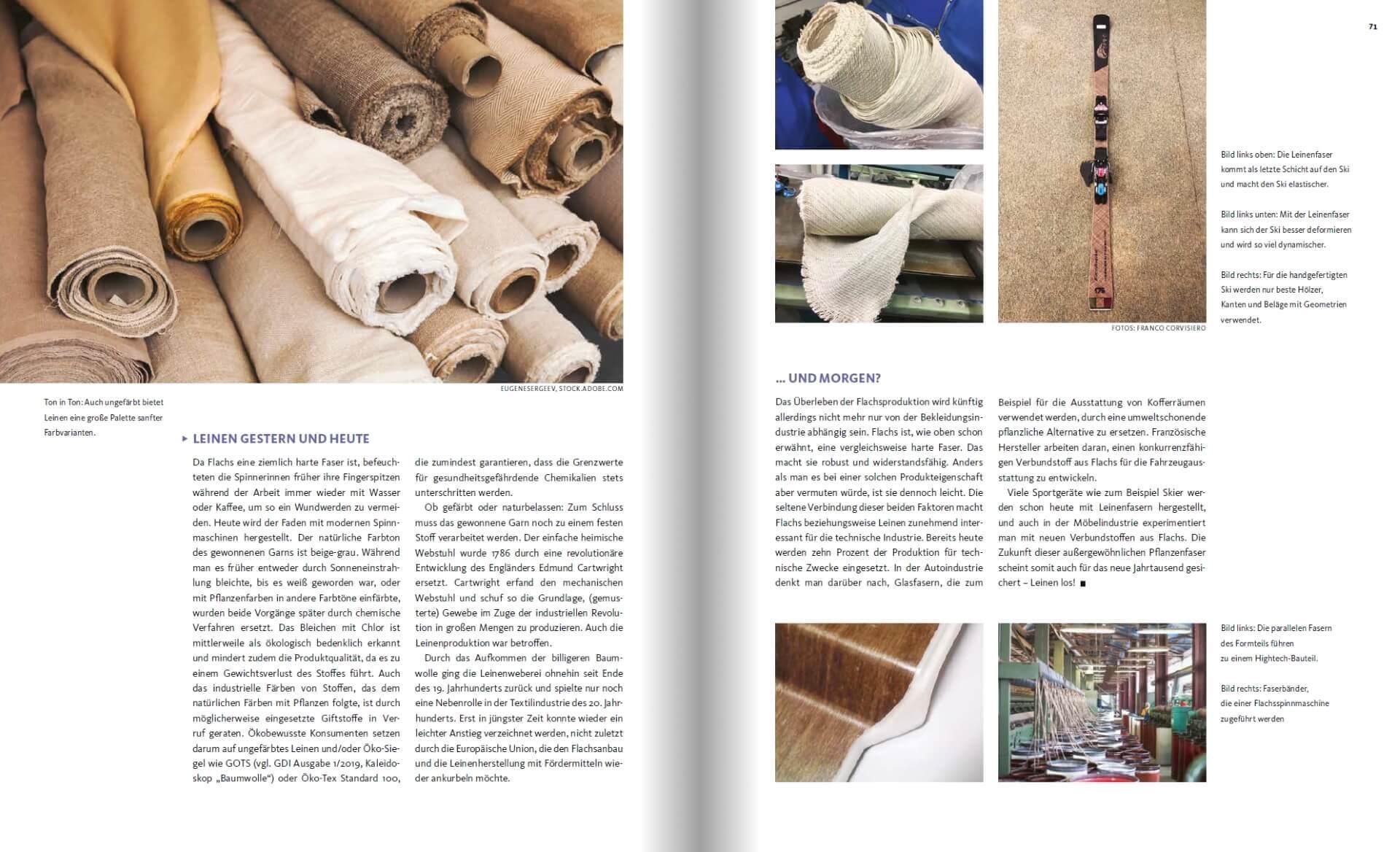 GARTENDESIGN INSPIRATION Ausgabe 2/2019: Pflanzenfasern - Stoffe aus Leinen