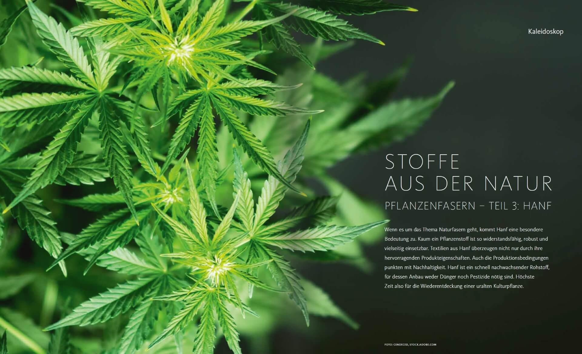 GARTENDESIGN INSPIRATION Ausgabe 5/2019: Pflanzenfasern - Stoffe aus Hanf